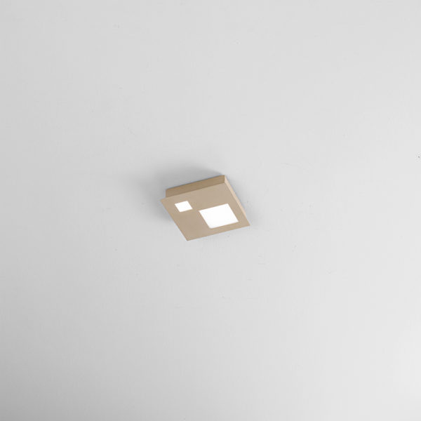 Opaque sand metal ceiling with integrated LED small