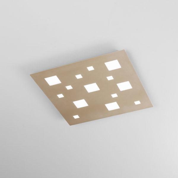 Plafone in metallo con LED integrato sabbia opaco
