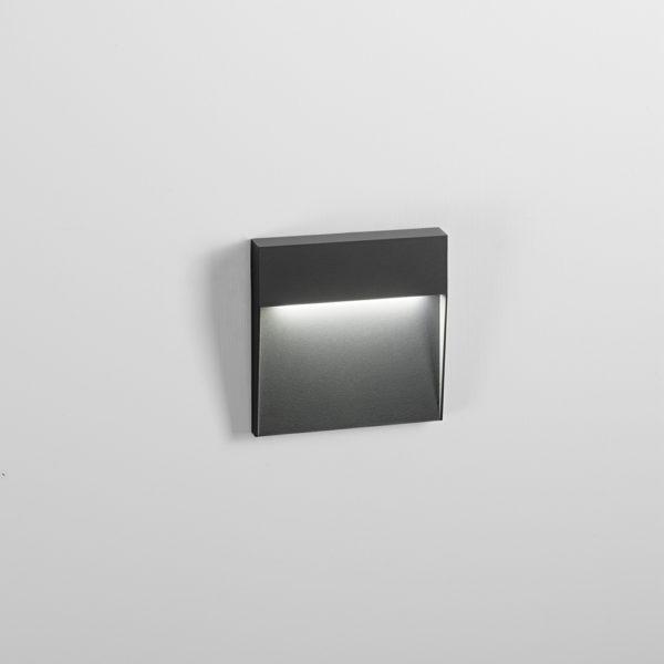 Segnapasso da parete in alluminio a LED antracite con finitura sabbiata