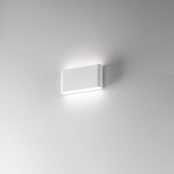 Appliques LED bianco con finitura sabbiata