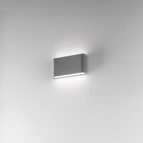 Appliques LED antracite con finitura sabbiata