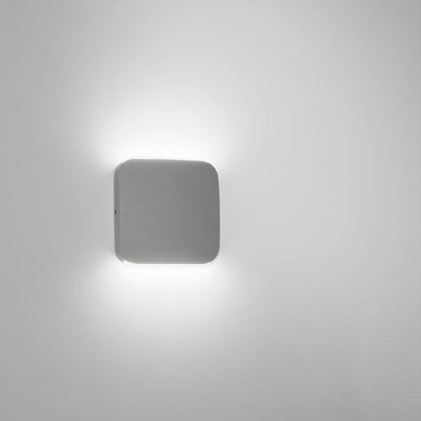 Dark gray sandblasted LED wall lamps
