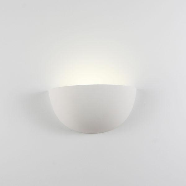 Applique grande ceramica bianco tinteggiabile