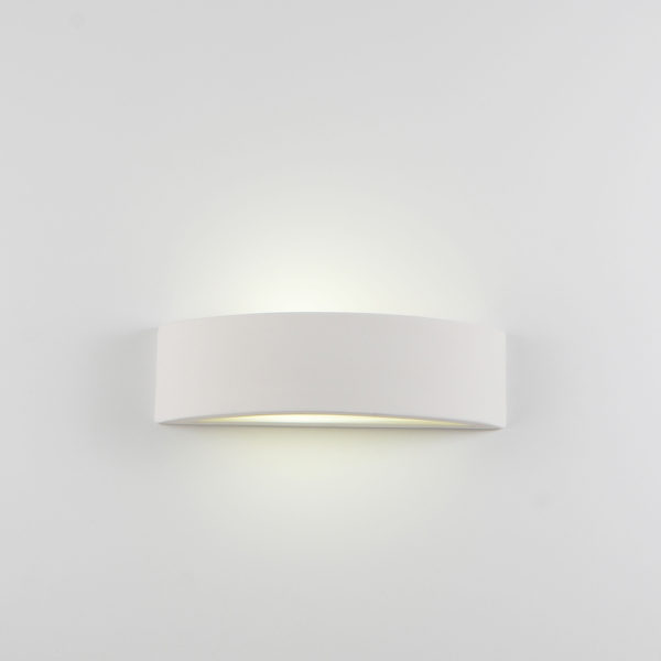 Applique arco grande ceramica bianco tinteggiabile