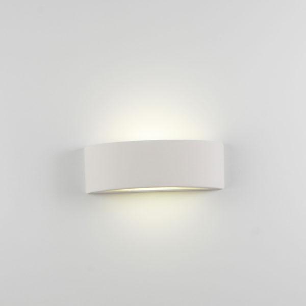 Applique arco medio ceramica bianco tinteggiabile