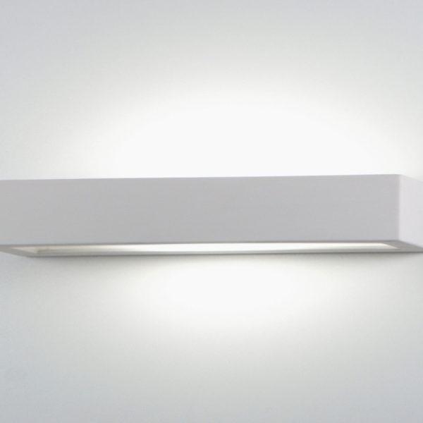 Applique prisma grande ceramica bianco tinteggiabile