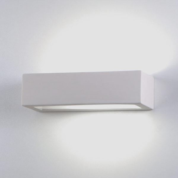 Applique prisma piccola ceramica bianco tinteggiabile