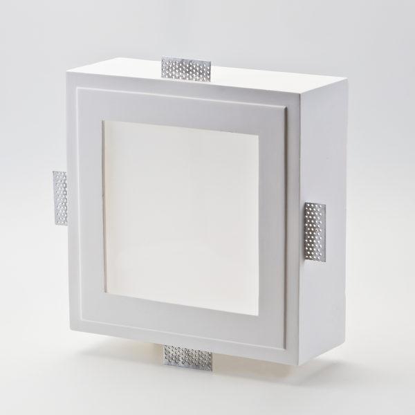Incasso in gesso quadrato con diffusore