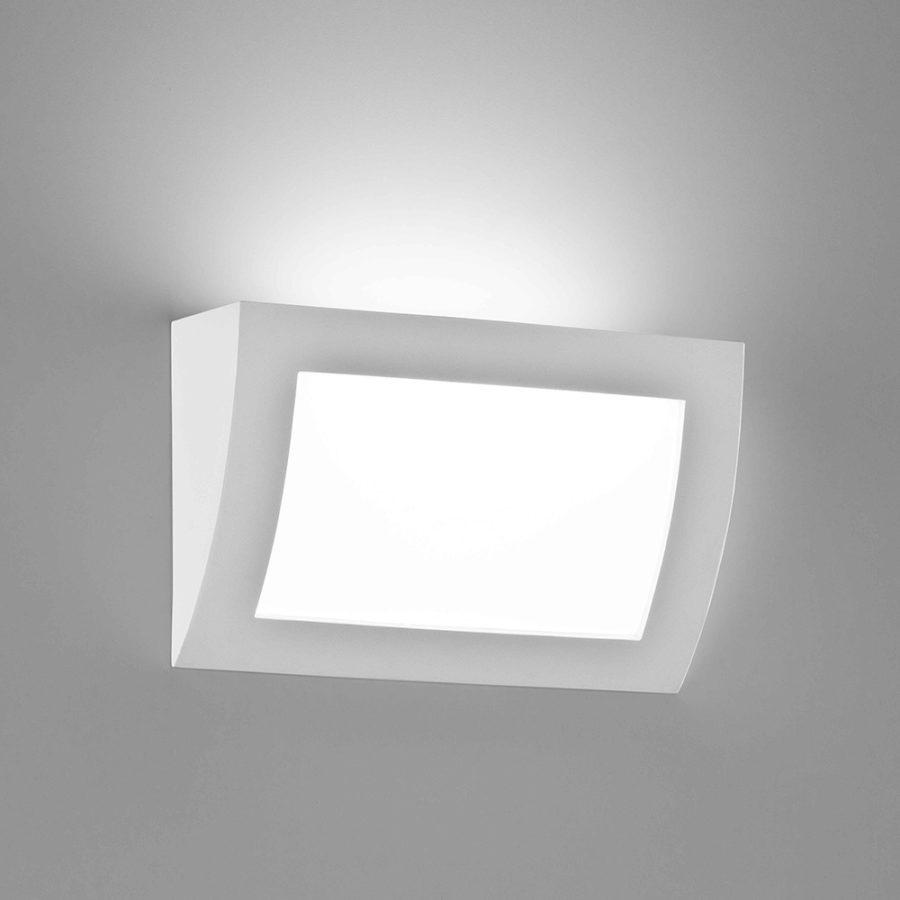 Applique incasso in gesso a LED bianco tinteggiabile