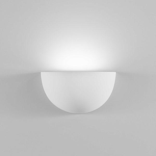 Applique quarto in gesso a LED bianco tinteggiabile