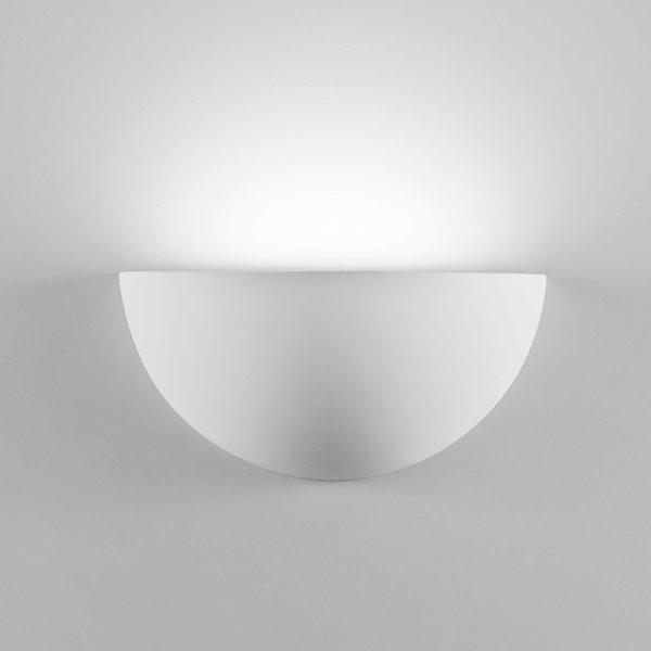 Applique quarto grande in gesso a LED bianco tinteggiabile