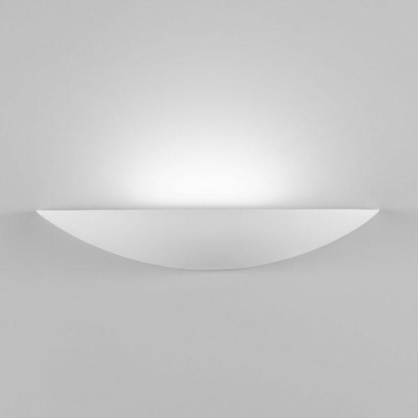 Applique Shell grande in gesso a LED bianco tinteggiabile