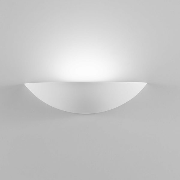 Applique Shell in gesso a LED bianco tinteggiabile