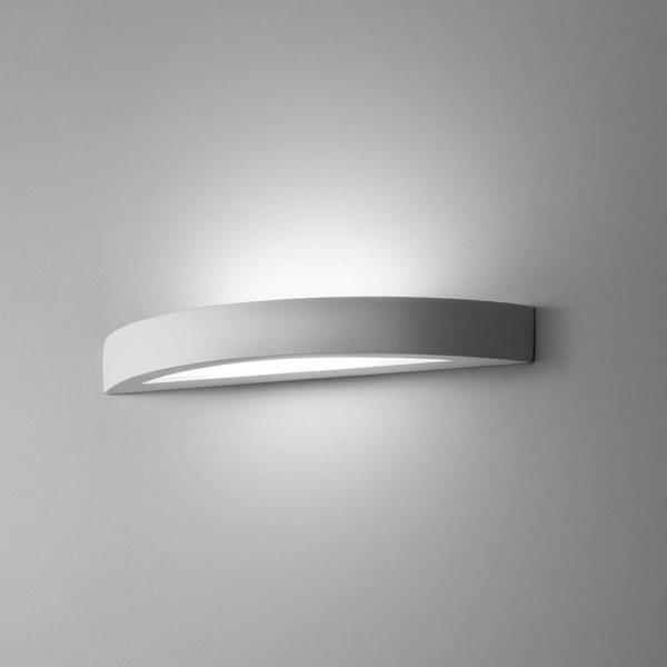 Applique Arco grande in gesso a LED bianco tinteggiabile