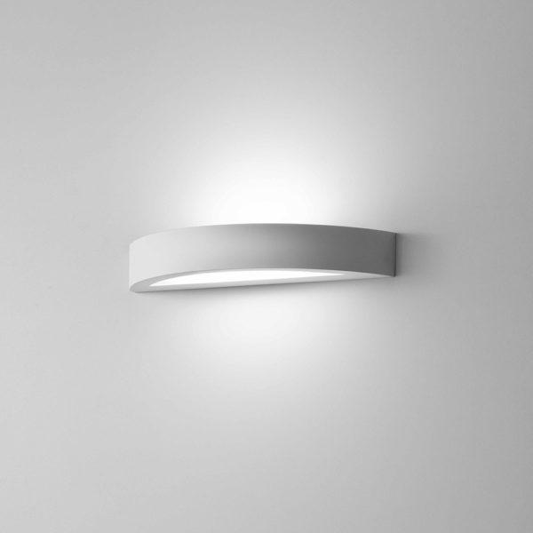 Applique Arco in gesso a LED bianco tinteggiabile