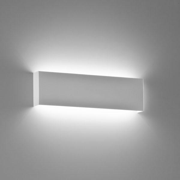 Applique in alluminio Bar piccola a LED bianco