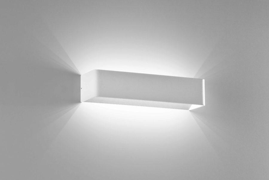 Applique in alluminio Cubo grande a LED bianco tinteggiabile