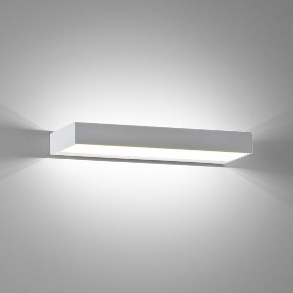 Applique in alluminio Spot lunga a LED bianco