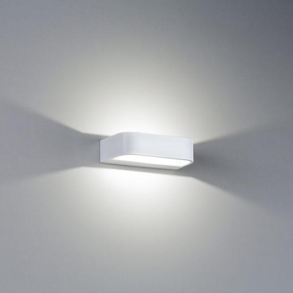 Applique in alluminio Mensola piccola a LED bianco