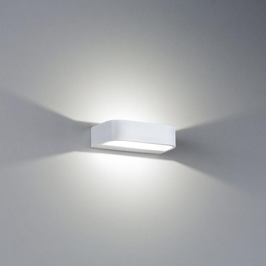 White aluminum wall lamp LED Mensola small