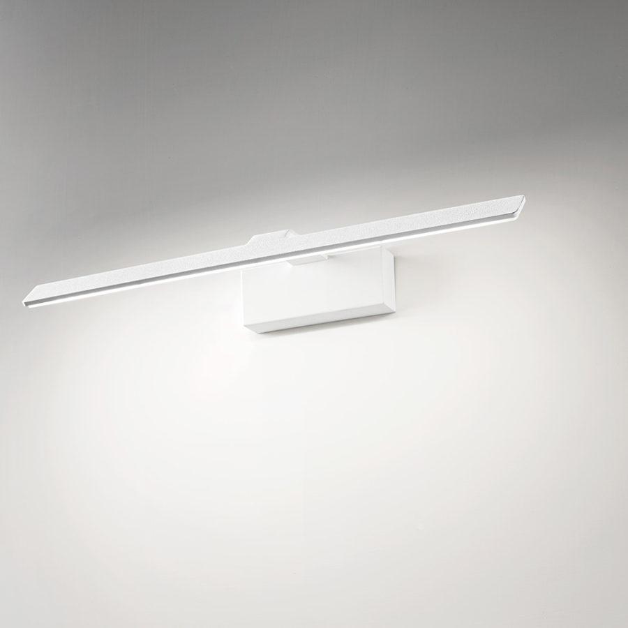 Applique a LED in alluminio bianco sabbiato