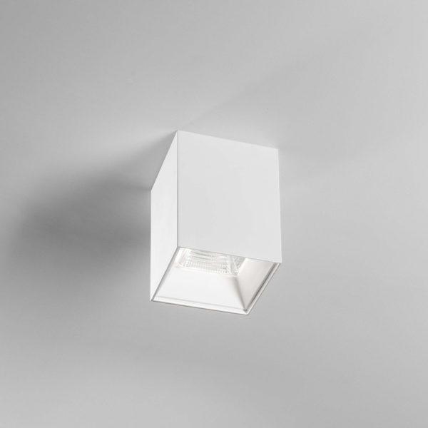 Plafone Led in alluminio bianco satinato