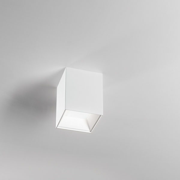 Aluminum satin white LED ceiling lamp