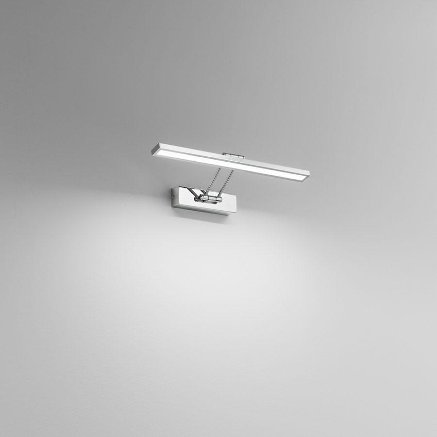Applique LED metallo cromato