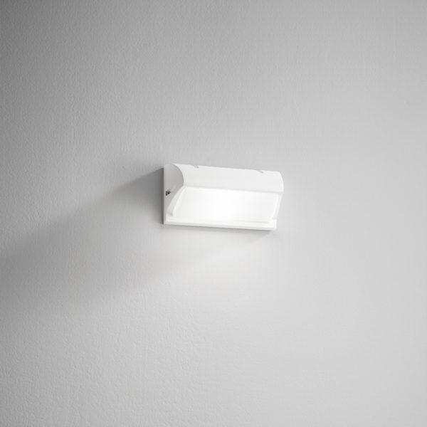 Lampada da parete in alluminio bianca Elba