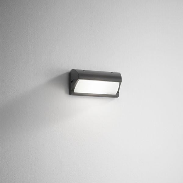 Lampada da parete in alluminio antracite Elba