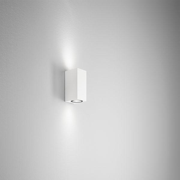 Lampada da parete in alluminio bianca Ischia