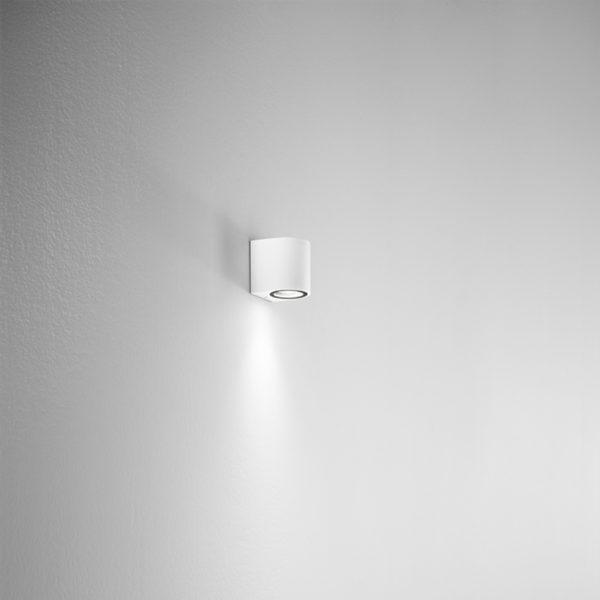 Lampada da parete in alluminio bianca Ponza