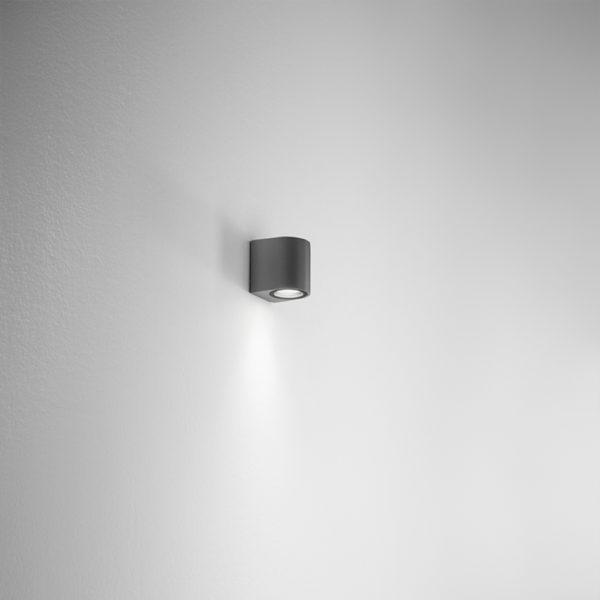 Lampada da parete in alluminio antracite Ponza