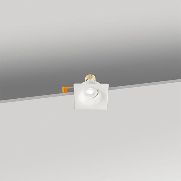 Faretto quadrato da incasso in alluminio 86x86