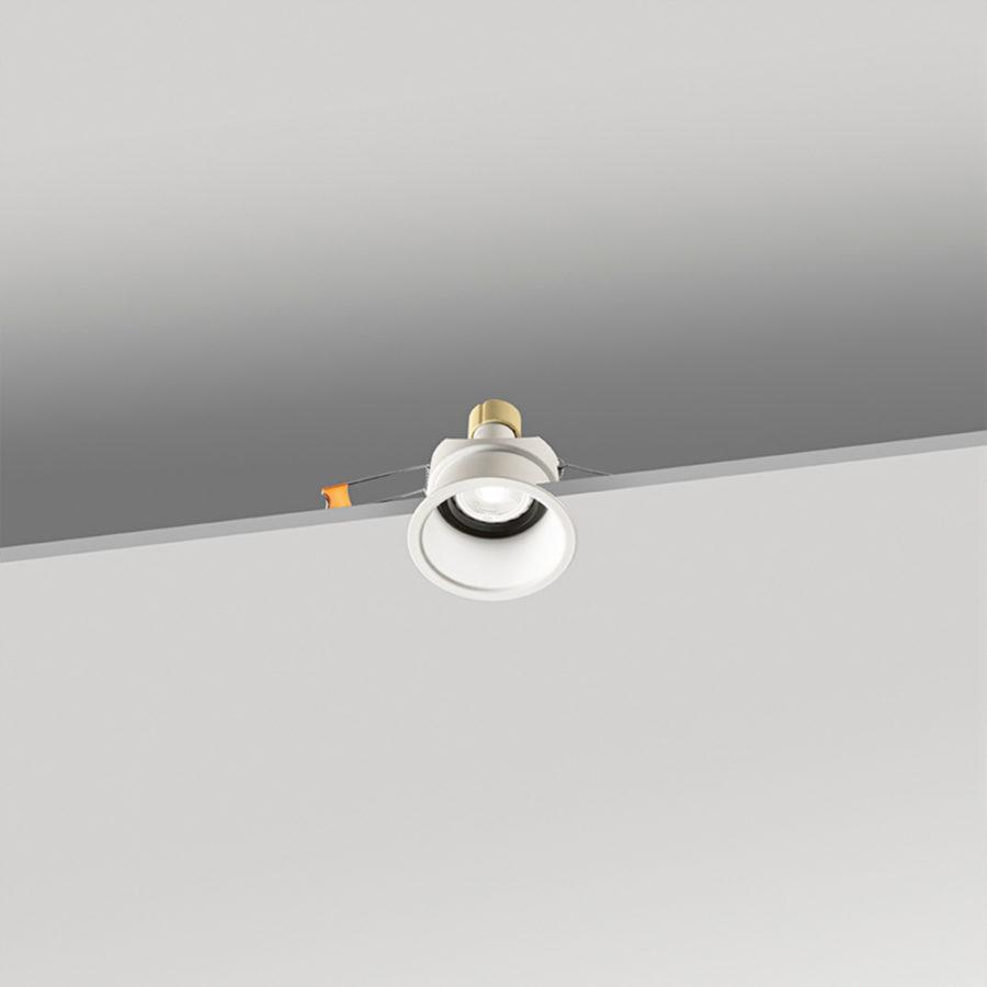 Faretto tondo da incasso in alluminio ø82x52