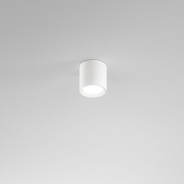 Aluminum ceiling lamp white ø90