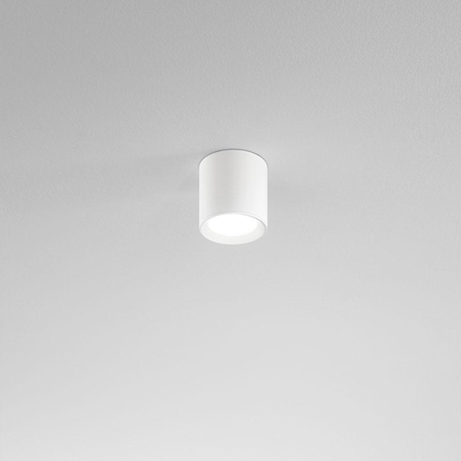 Plafone a LED in alluminio bianco ø90