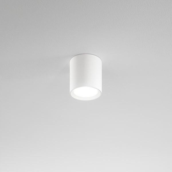 Aluminum ceiling lamp white ø110