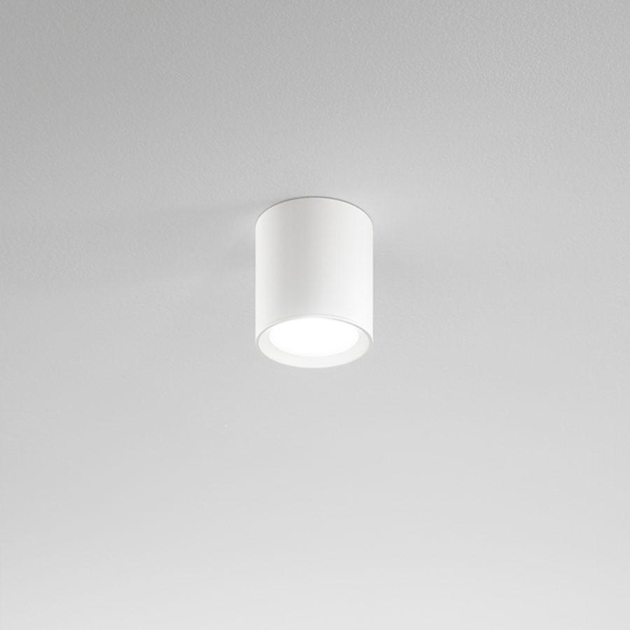 Plafone a LED in alluminio bianco ø110