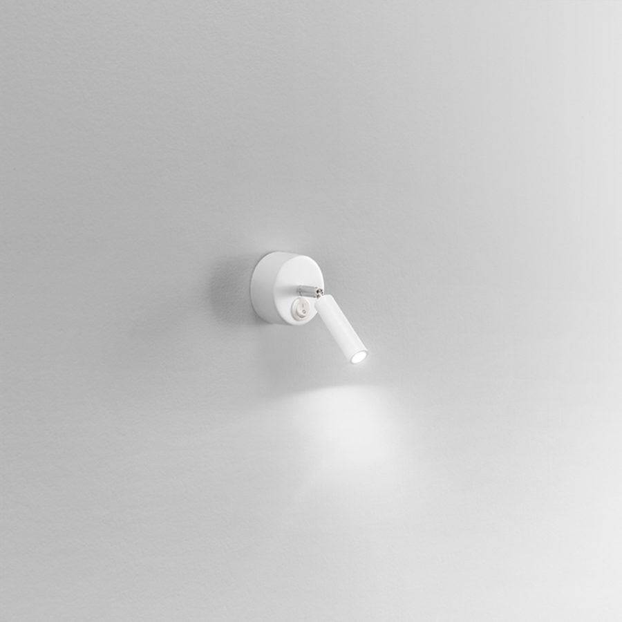 Steel/aluminum Wall lamp white - arm with spherical joint