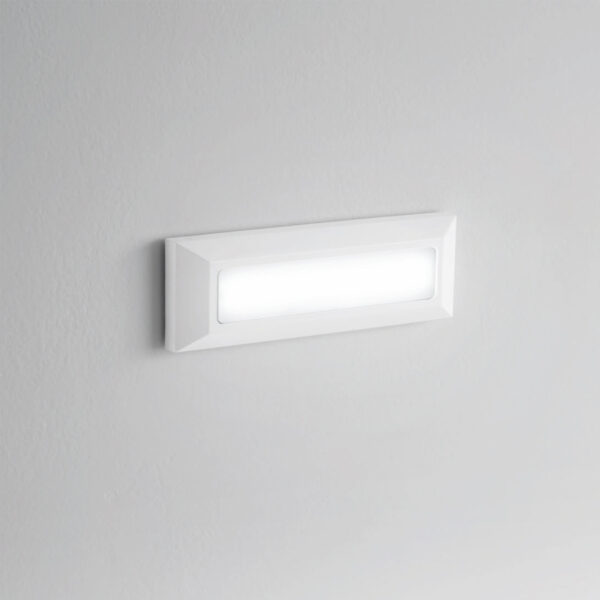 Lampada da parete-segnapasso in PC/ABS e-seaLED - Bianco / Antracite - 4000K / 240lm