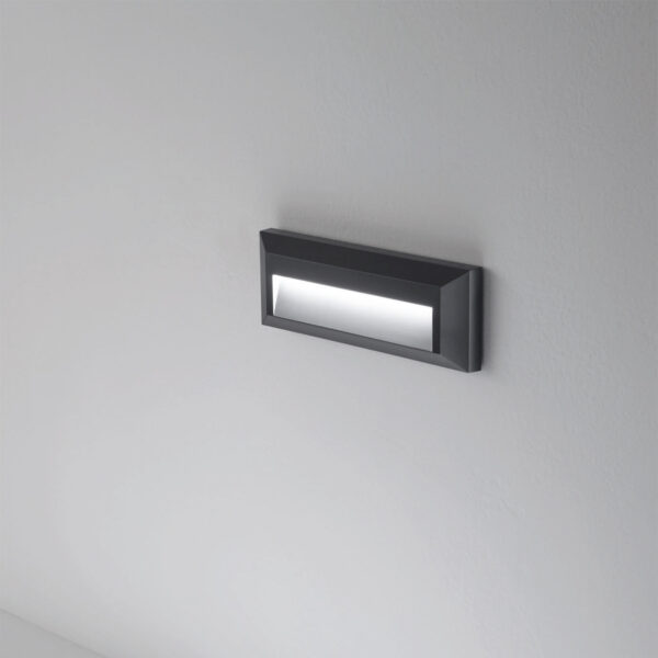 PC/ABS wall-steplight 302 e-seaLED - White / Anthracite - 4000K / 115lm