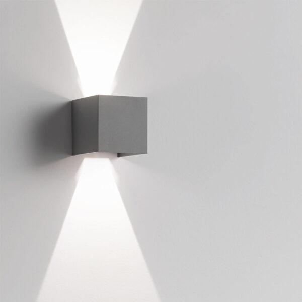 Lampada da parete Hotshot in alluminio antracite