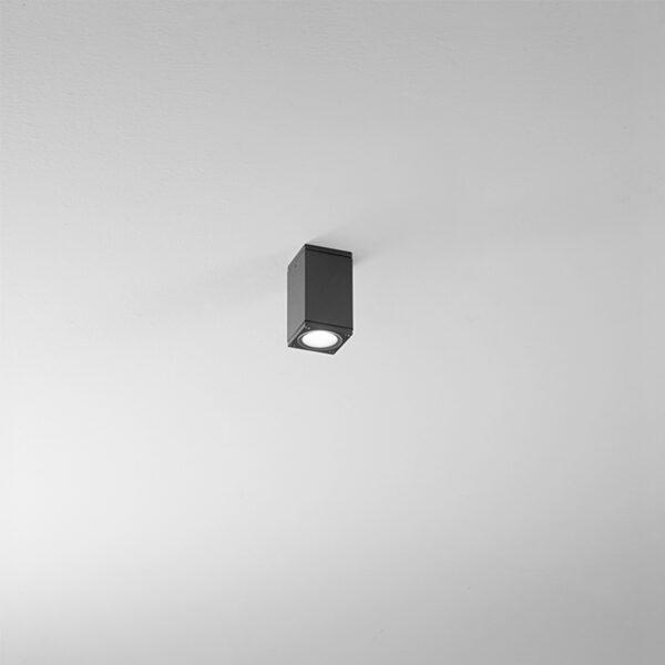 Plafone prismatico in alluminio Prysm - Antracite