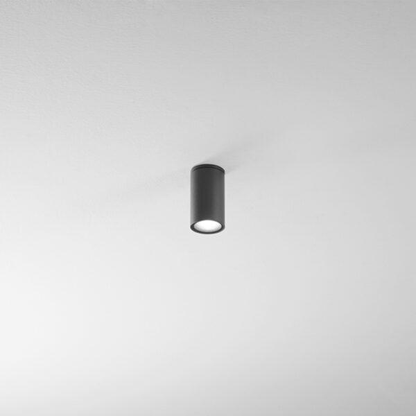Plafone cilindrico lungo in alluminio Cylin - Antracite