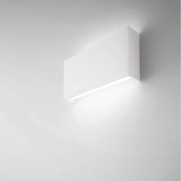 Lampada da parete in alluminio Bar 54 - Bianco