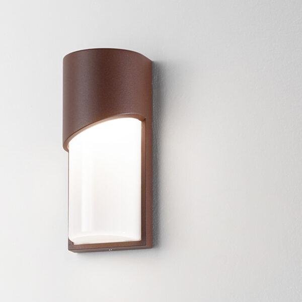 Lampada da parete in alluminio Section - Corten