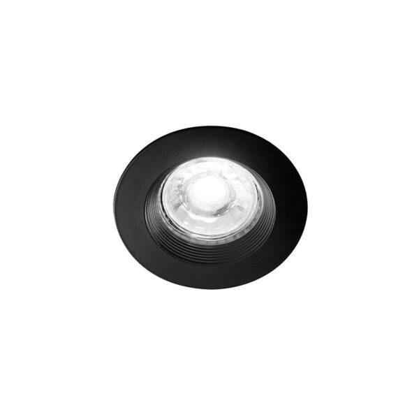 Faretto tondo da incasso in alluminio ø80x22 - Nero