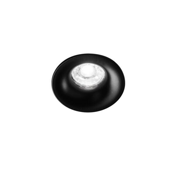 Faretto tondo da incasso in alluminio ø84x32 - Nero