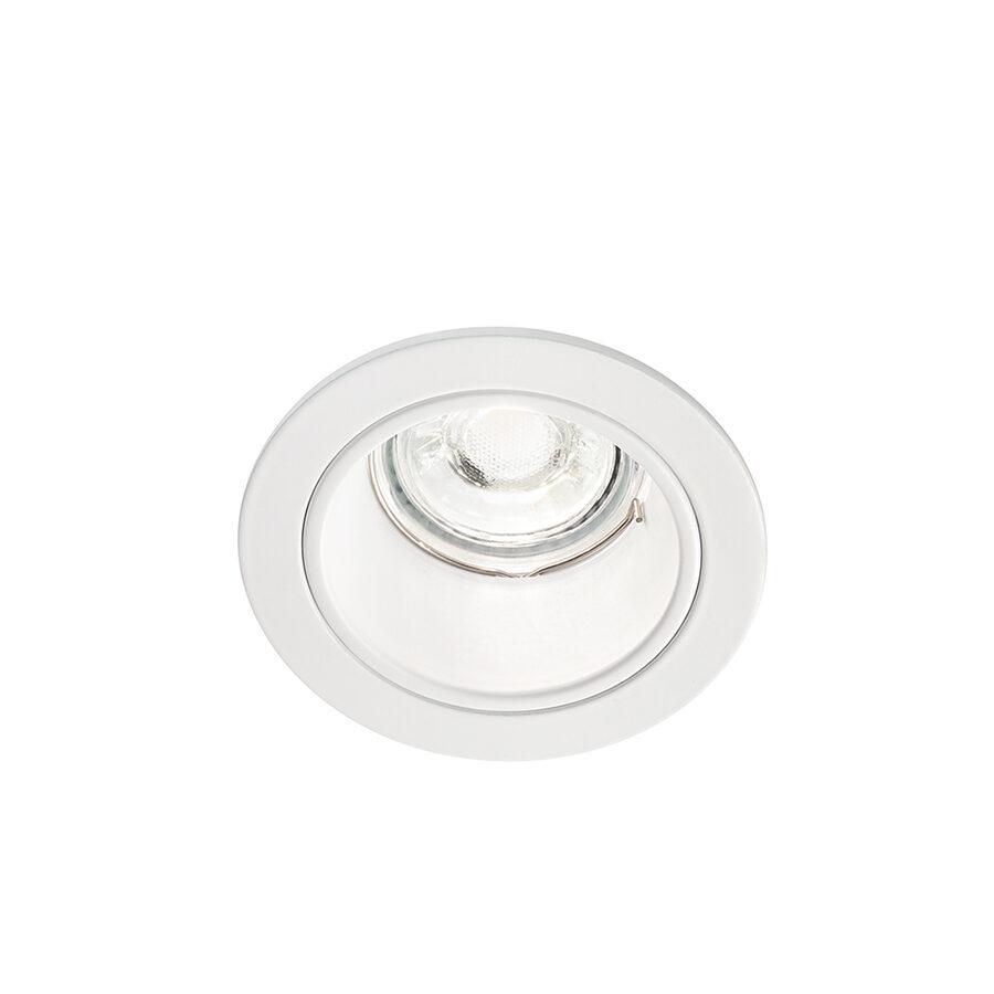 Faretto tondo da incasso in alluminio ø90x59 - Bianco